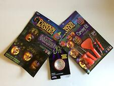 Pumpkin Masters Lot Carving Tools, Yellow Flicker Lite and Shadow Stencils