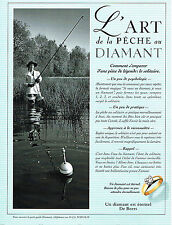 PUBLICITE ADVERTISING 104  1996  DE BEERS joaillier   LE DIAMANT