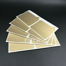 50 Scratch Off Stickers Label 72x77mm Gold Dialog Box Shape For Games Wedding