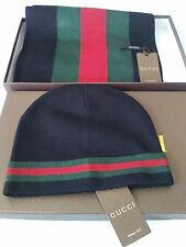 Authentic Gucci 100% Beanie Hat and Scarf Set