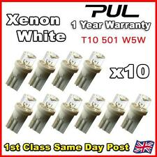 10 x T10 W5W 501 LED Side Light / Interior / Number plate Bulbs HID XENON WHITE
