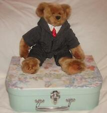 TY Attic Treasure My Dad William Teddy Bears + Suitcase New Ideal  Gift