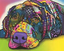 Savvy Labrador Dean Russo Animal Contemporary Dog Print Poster 8x10