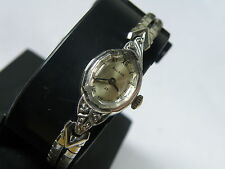 VINTAGE LADIES WATCH.....NICE BULOVA  with 3 DIAMONDS  ... SERVICED