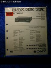 Sony Service Manual XR C210Mk2 / C212Mk2 / C213Mk2 Car Stereo (#3580)