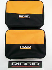 2) RIDGID TOOL BAGS (13X9X4) CARRYING CASES FOR 18 V VOLT DRILL IMPACT & BATTERY