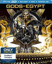 Gods of Egypt (Blu-Ray 3D + 2D Blu-ray + DVD + HD Digital) Steelbook NEW!