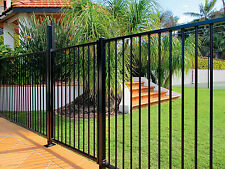 ARC Aluminium Flat Top/Rod Top/Loop Top fence panel - Black 2400(w) x 1200(h)
