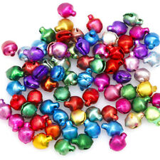 100 PCS Iron Beads Christmas Jingle Bells Pendants Xmas New Year 6*8mm Charms