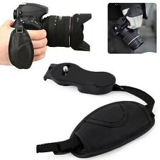PU Leather Hand Grip Black Wrist Strap Camera Canon Minolta Panasonic Olympus