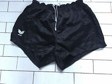 MENS VINTAGE RETRO OLD SCHOOL BLACK ERIMA ATHLETIC RUNNING SPRINTER SHORTS 7