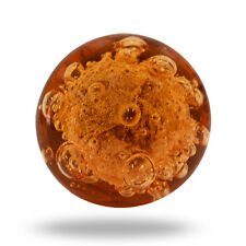 Glass Jones Bead Amber Cupboard Cabinet Door Knob Drawer Pull & Handle