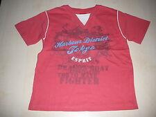 Esprit tolles T-Shirt Gr. 92 / 98 rosa-apricot mit Druckmotiv !!