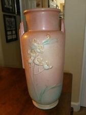 "Vintage Roseville Ixia - Art Deco Vase  - Pink/Green - 862 - 10"" - 1937 - USA"