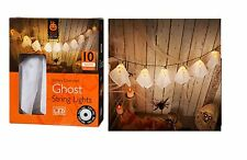 Halloween 10 Ghost String LED Lights House Party indoor outdoor Decor 10 Ghosts