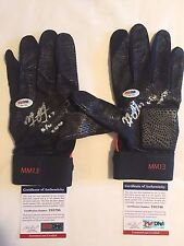 Manny Machado Autographed Game Used Batting Gloves 2 AUTO'S PSA/DNA COA
