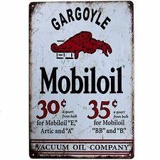 Metal Tin Sign mobil oil  Decor Bar Pub Home Vintage Retro Poster Cafe ART