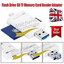 Flash USB Drive Micro SD TF Memory Card Reader Adapter For iPhone iPad & Android