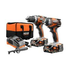 RIDGID X4 18-Volt Lithium-Ion Cordless Drill and Impact Driver Combo Kit-2-Tools