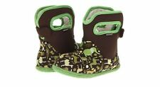 BOGS Baby Green Zoo Boys Children Kids Rainboots Winter Boots Waterproof Sz 8