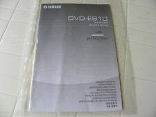 Yamaha DVD-E810 Owner's Manual  Operating Instruction   New