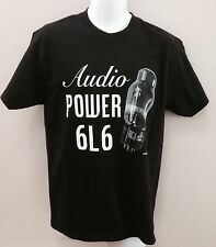 Audiophile Vtg 6L6 Guitar Vacuum Tube Amp T-Shirt Rock Blues Band Music Black M