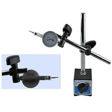 Magnetic Base Holder With Double Adjustable Pole For Dial Indicator Test Gauge