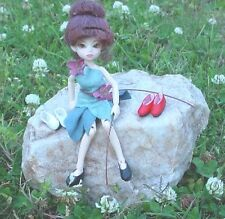 Doll Shoes, 19mm WHITE Custom Flats fit Elfdoll Lyn, Tutti
