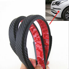 2X Car Bumper Corner Protector Sticker Stirp Carbon Fiber Look Anti-rub Edge Lip