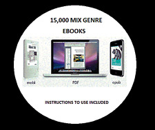 15,000 + Mixed Genre ebooks Valentine Gift Kindle Tablets iPad ePub Mobi on DVD