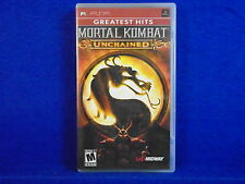 psp MORTAL KOMBAT UNCHAINED++ Arcade Action Game Playstation NTSC