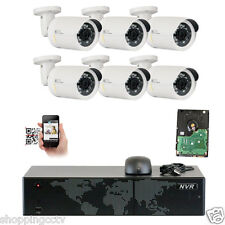 Full HD 8CH NVR + 6 pc 5MP 1920P Onvif Outdoor PoE IP Camera Security System