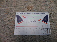 Airfix 1/144 decals  Boeing 737-200 British Airways M99