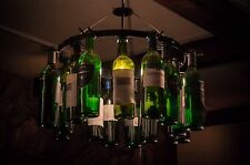 Wine Bottle Chandelier Light  Chain Wine Decor No Wiring Required