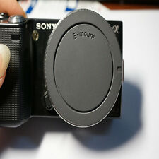 Rear Lens Cap + Camera Front Body Cover for Sony E-Mount NEX-3 NEX-5 Black Hot