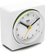 BRAUN Quarzwecker alarm clock leise BNC011 weiß Wecker Crescendo NEU 66045