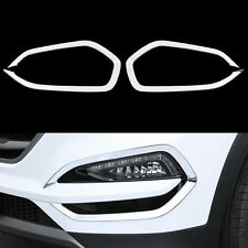 2 Pcs/Set Car Front Fog Lamp Light Cover Trim For Hyundai Tucson 3th 2015+ ABS