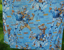 Vintage JC Penney Twin Flat Sheet Material NFL Football Theme 61'' x 107''