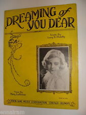 Dreaming of You Dear 1930 sheet music Lucy Pedelty, Harry La Forrest