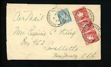 Postal History Ireland Scott #107(3)+117 Airmail 1946 Aerphort Na Sionainne