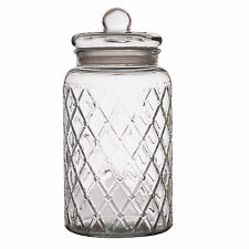 4.35 Litre Vintage Large Glass Kitchen Food Biscuit Sweet Storage Apothecary Jar