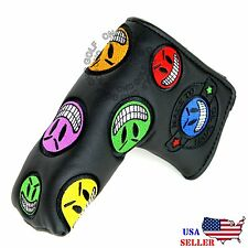 joker smiley face Black Putter Cover Headcover For Scotty Cameron Odyssey Blade