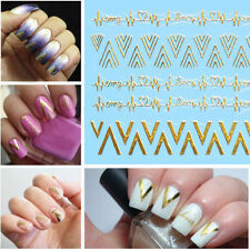 3D Nail Art Bows Geometrical  Metallic Glitter Nail Art Stickers Decals Transfer