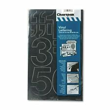 Chartpak Press-On Vinyl Numbers Self Adhesive Black, 3-Inch 10 per Pack 01170