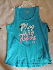 NWT girls youth UNDER ARMOUR LOOSE FIT SHIRT~TANK TOP~SIZE X LARGE~XL~blue