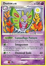 DP PLATINUM POKEMON RARE CARD - DUSTOX 25/127