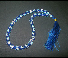 Middle Eastern Worry Beads With Hand Painted Evil Eyes. 33x8mm