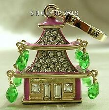 AUTHENTIC JUICY COUTURE 2013 PAVE CRYSTAL PAGODA CHARM NIB FREE SHIPPING