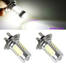 2X H7 SUPER BRIGHT 5 COB CHIP LED PROJECTOR LENS Fog Lamp Bulbs CAR- WHITE