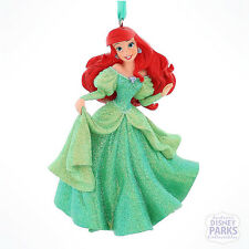 Authentic Disney Parks Princess Ariel Little Mermaid Glitter Dress Ornament
